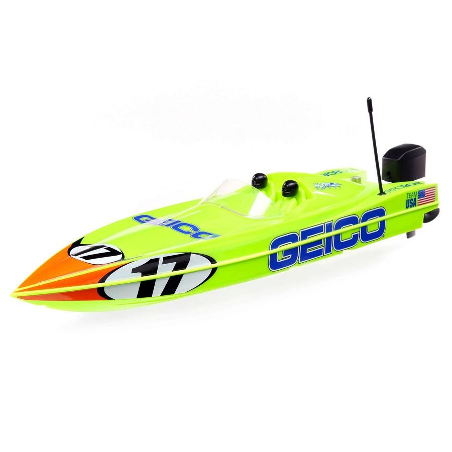 "Pro Boat Miss GEICO & Lucas Oil Boat 17"" Power Boat Racer Deep-V RTR"