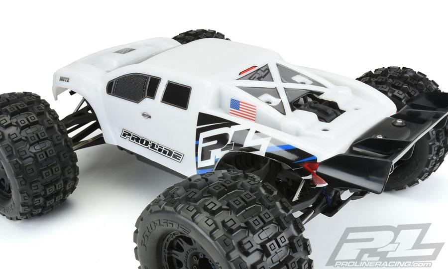 Pro-Line Pre-Cut Brute Bash Armor White Body For The Traxxas E-REVO 2.0