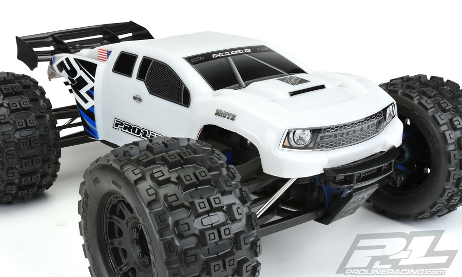 Pro-Line Pre-Cut Brute Bash Armor White Body For The Traxxas E-REVO 2.0