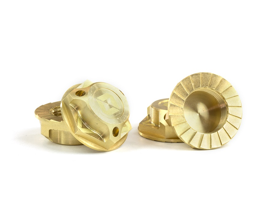 Triad Brass 17mm Capped Wheel Nuts