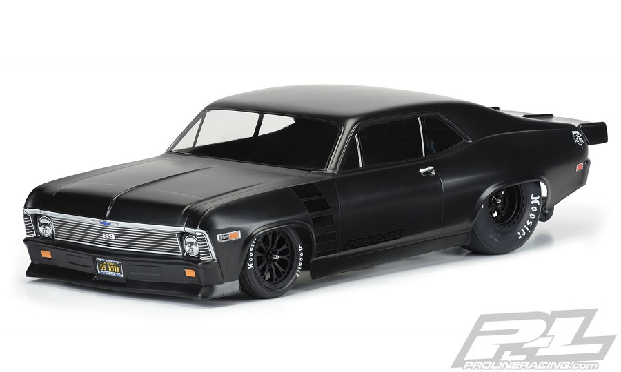 Pro-Line 1969 Chevrolet Nova Clear Body For Slash 2wd Drag Car