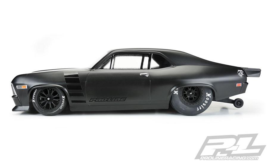 Pro-Line 1969 Chevrolet Nova Clear Body For Slash 2wd Drag Car