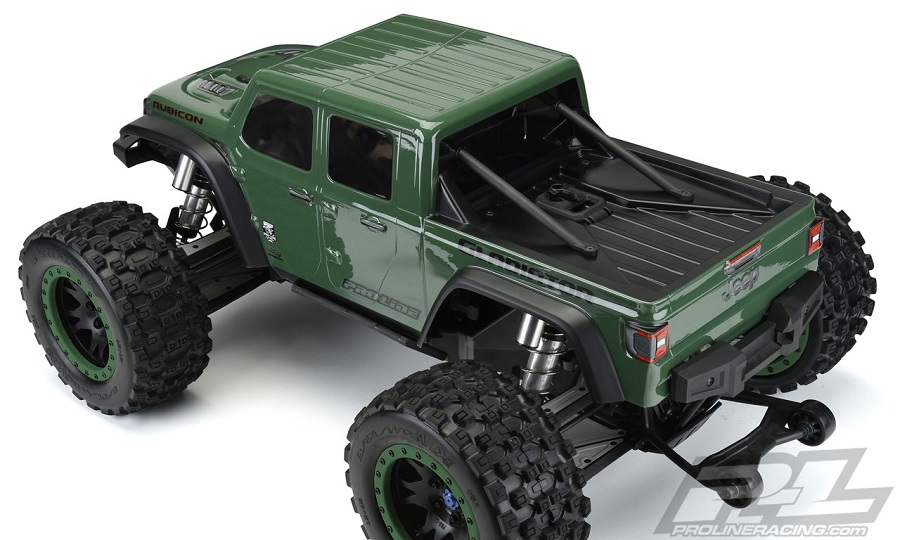 Pro-Line Pre-Cut Jeep Gladiator Rubicon Clear Body For The Traxxas X-MAXX