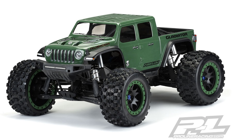 Pro-Line Pre-Cut Jeep Gladiator Rubicon Clear Body For The Traxxas X-MAXX