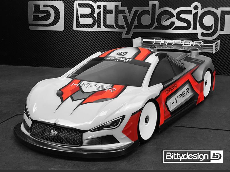 Bittydesign Hyper 1/10 Touring Car 190mm Clear Body