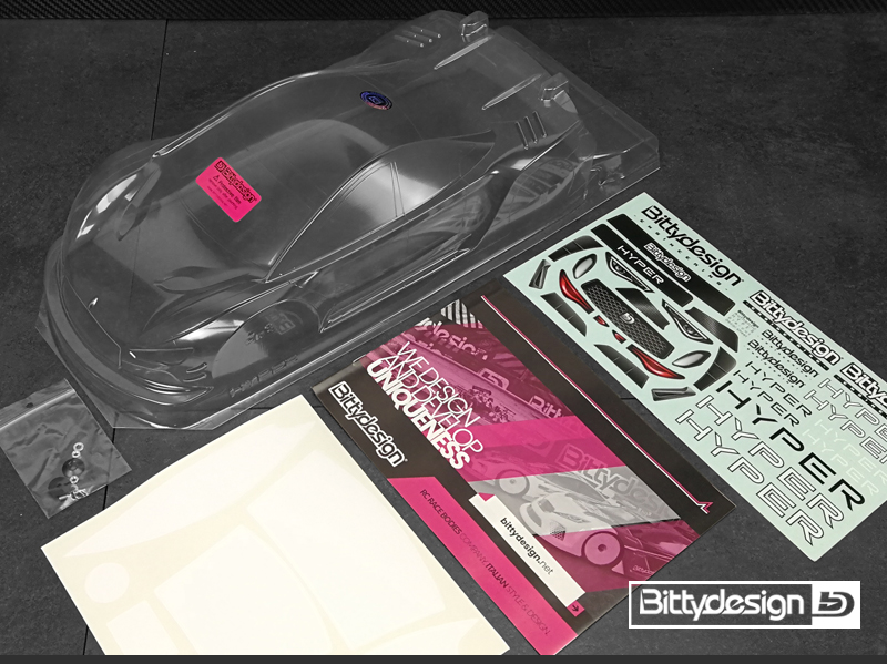 Bittydesign Hyper 1/10 Touring Car 190mm Clear Body