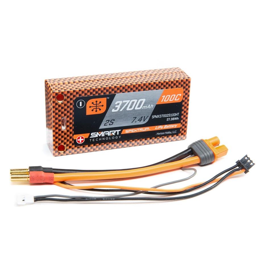 Spektrum 100C Smart LiPo Hardcase Batteries With 5mm Tubes