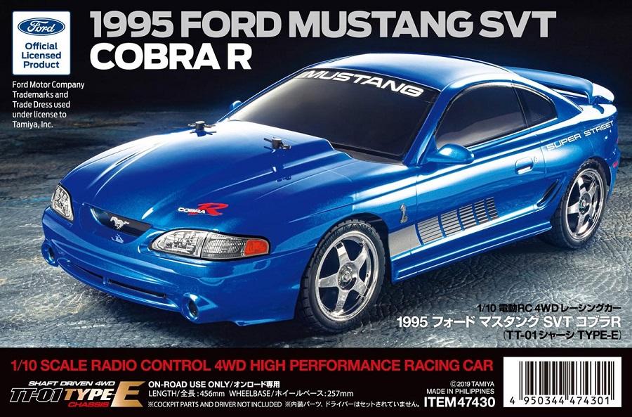Tamiya TT-01 Type-E 1995 Ford Mustang SVT Cobra R Kit
