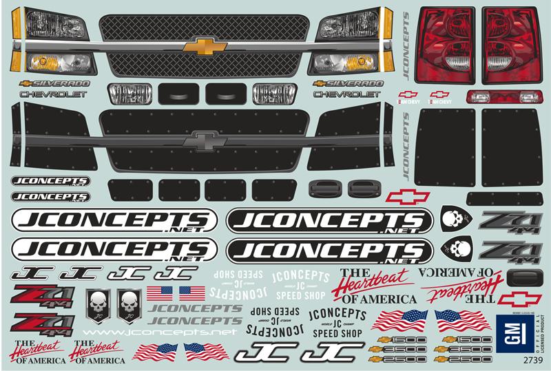 JConcepts 2005 Chevy 1500 Samson Clear Body