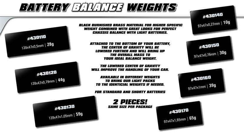 LRP Battery Balance Weights