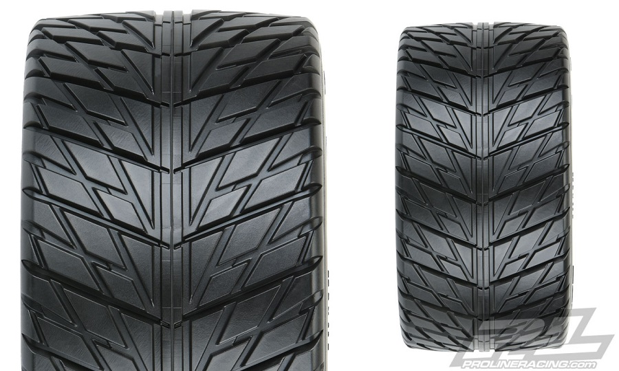 """Pro-Line Street Fighter HP 3.8"""" Street BELTED Tires Mounted"""