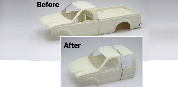 Turn two standard cab bodies into one sweet crew cab