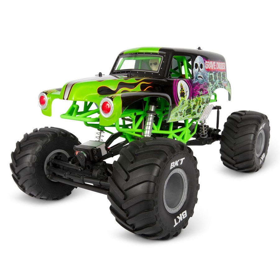 Axial 1/10 SMT10 Grave Digger 4WD Monster Truck RTR [VIDEO ...