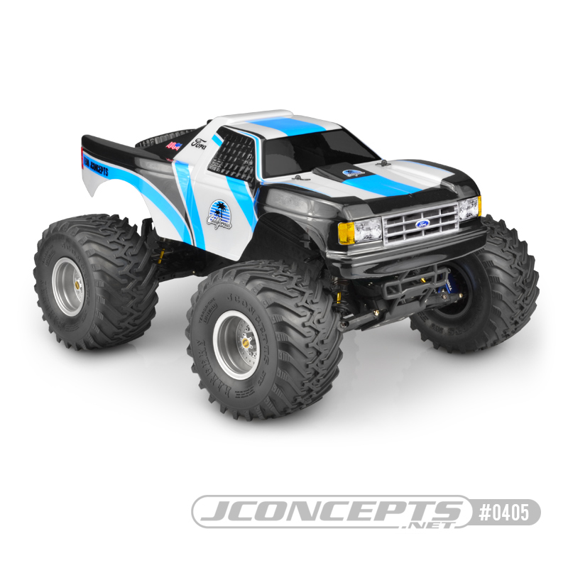 """JConcepts 1989 Ford F-150 """"California"""" Traxxas Stampede Clear Body"""