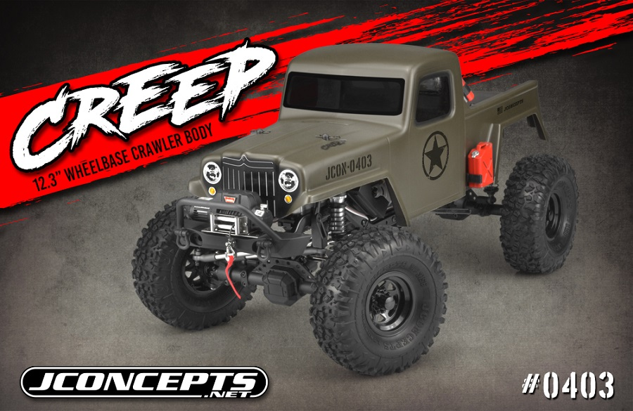 "JConcepts JCI Creep 12.3"" Wheelbase Clear Body"