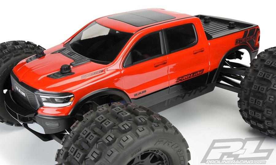 Pro-Line Pre-Cut 2020 Ram Rebel 1500 Clear Body For The Traxxas E-REVO 2.0