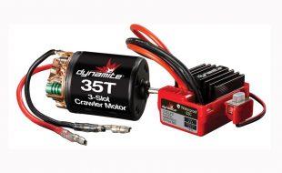 Dynamite Brushed Crawler 35T Motor/ESC Combo