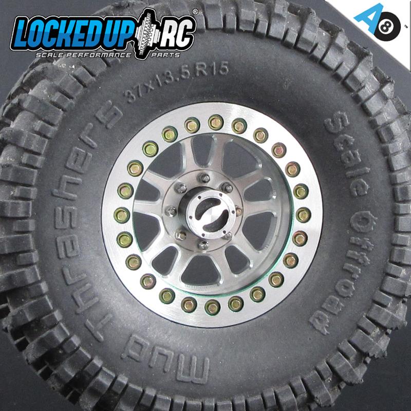 """Locked Up RC 1.55"""" Adversary AO8 Wheels"""