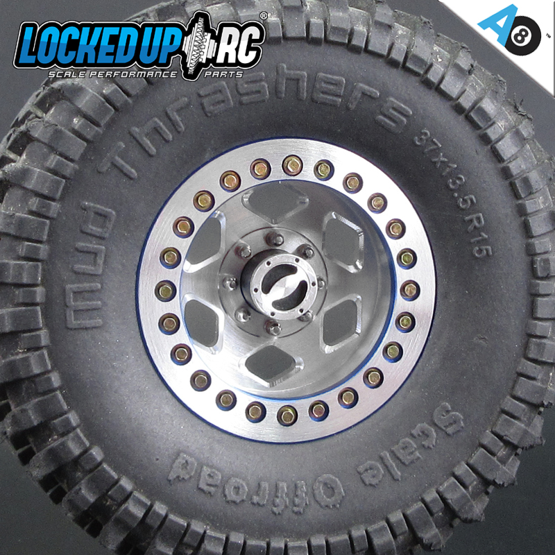 "Locked Up RC 1.55"" Rock Cutter AO8 Wheels"