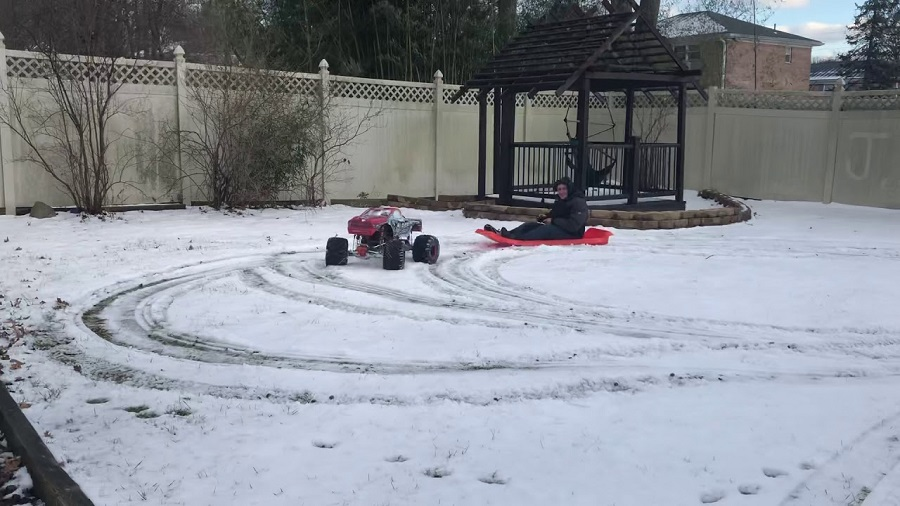 Primal RC Raminator Monster Truck In The Snow