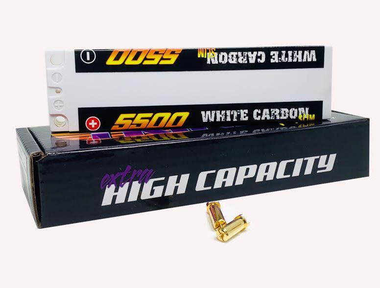 Trinity White Carbon Slim Stick LiPos