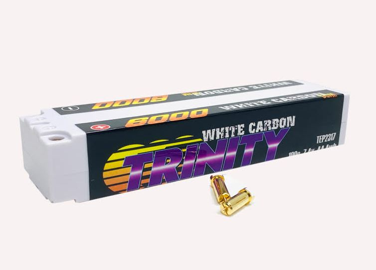 Trinity White Carbon Slim Stick LiPos