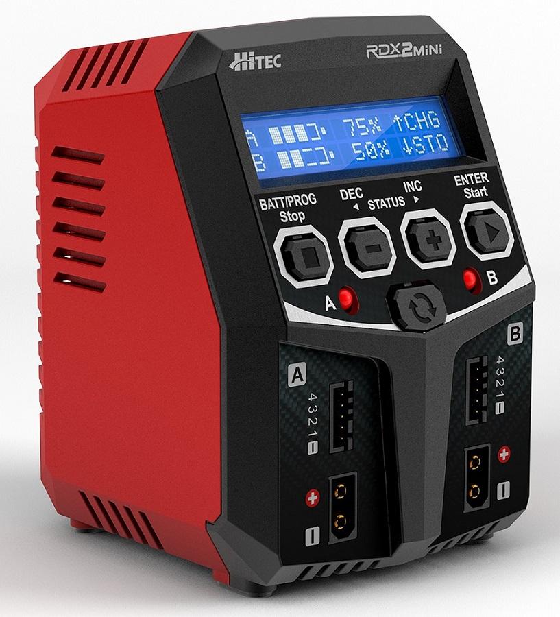 Hitec RDX2 Mini AC Dual Balance Charger
