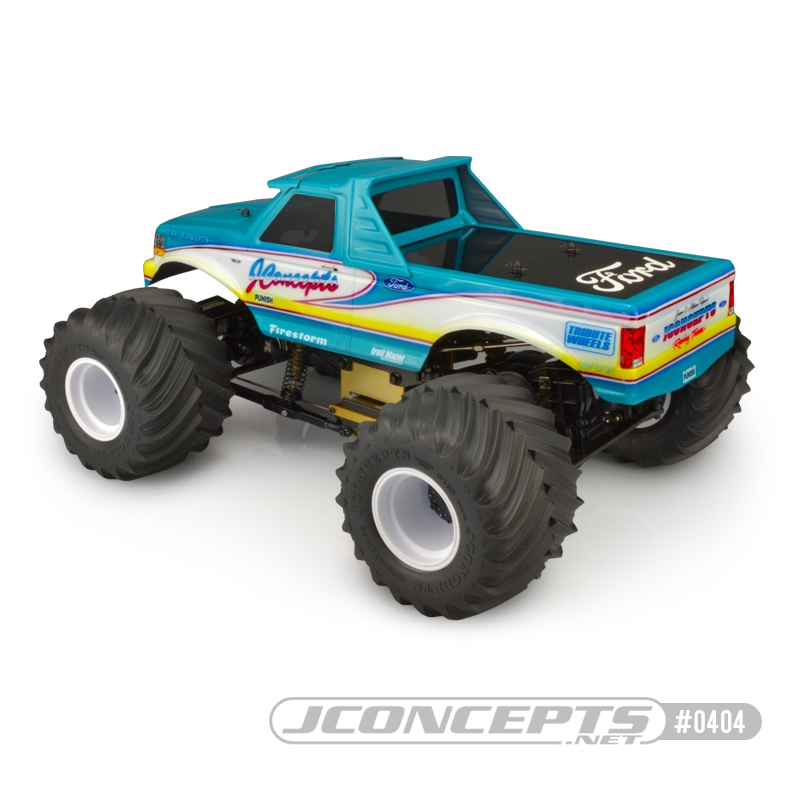 JConcepts 1993 Ford F-250 Clear Monster Truck Body (1)