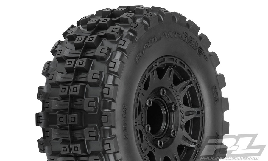 Pro-Line Badlands MX28 HP 2.8 All Terrain BELTED Truck Tires Mounted