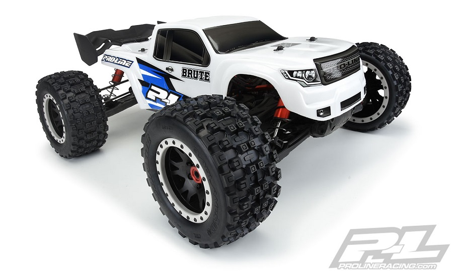 Pro-Line Pre-Cut Brute Bash Armor (White) & Clear Body For The ARRMA Kraton 8S