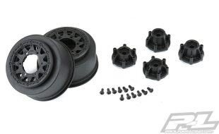 Pro-Line Raid 2.2″/3.0″ Black 6×30 Removable Hex SC Wheels