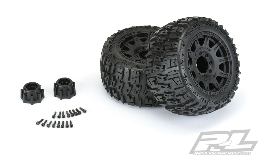 "Pro-Line Trencher LP 3.8"" All Terrain Tires Mounted"