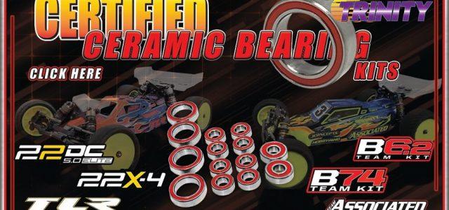 Trinity Ceramic Bearing Kits For The B6.2, B74, 22 5.0 Elite & 22X-4