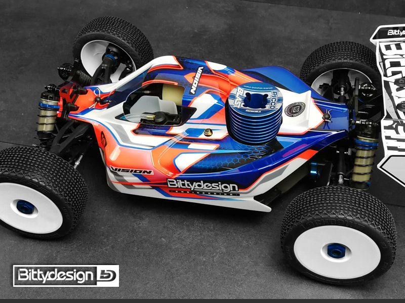 Bittydesign VISION Pre-Cut Clear Body For The Team Associated RC8B3.1