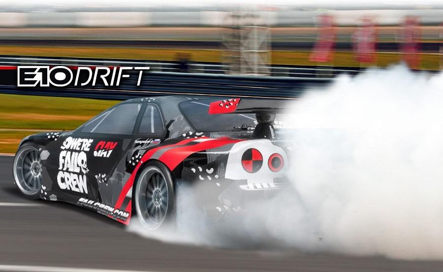 HPI E10 Drift Fail Crew Nissan Skyline R34 GT-R RTR