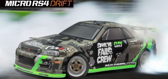 HPI Micro RS4 Drift Fail Crew Nissan Skyline R34 GT-R RTR