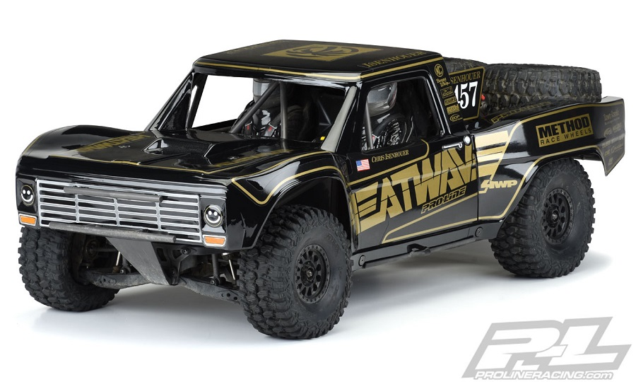 Pro-Line Pre-Painted & Cut 1967 Ford F-100 Race Truck Heatwave Edition Black Body