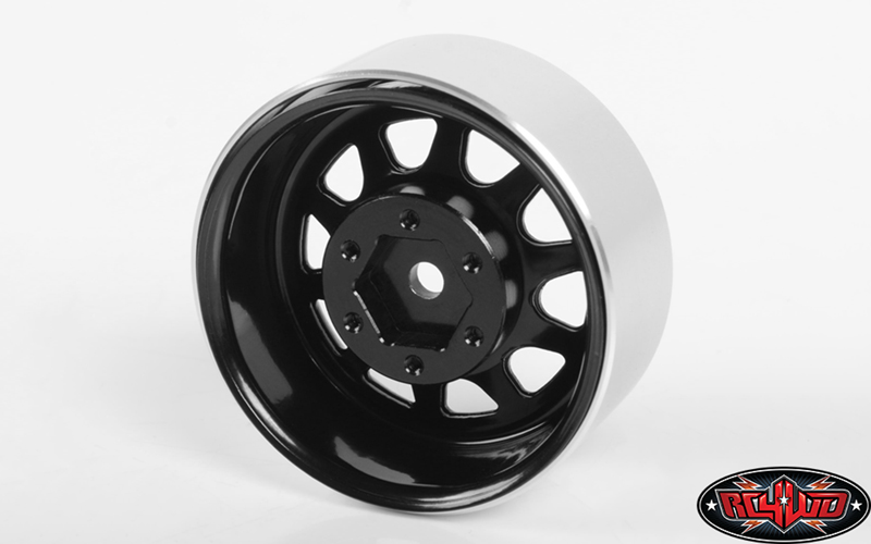 "RC4WD Stamped Steel 1.7"" Beadlock Wagon Wheels (Black)"
