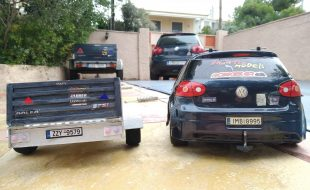 HPI Sprint 2 VW Golf TSI and Balsa trailer!