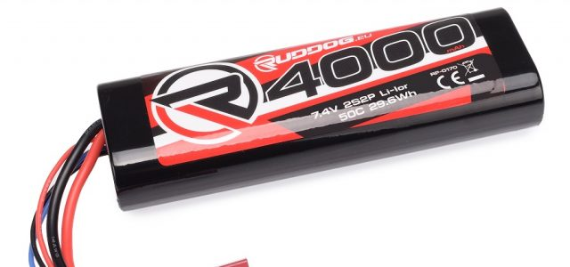 RUDDOG 4000mAh 7.4V 50C Lithium-Ion Stick Pack Battery