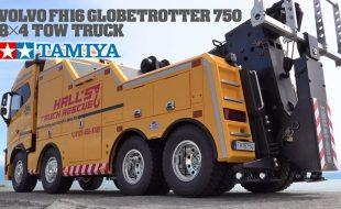 Tamiya 56362 Volvo FH16 Globetrotter 750 8×4 Tow Truck [VIDEO]