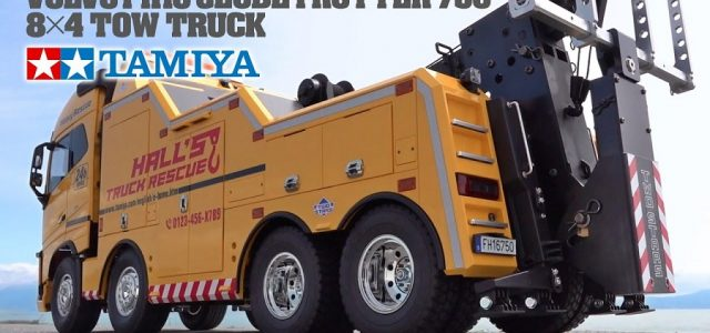 Tamiya 56362 Volvo FH16 Globetrotter 750 8×4 Tow Truck [VIDEO]