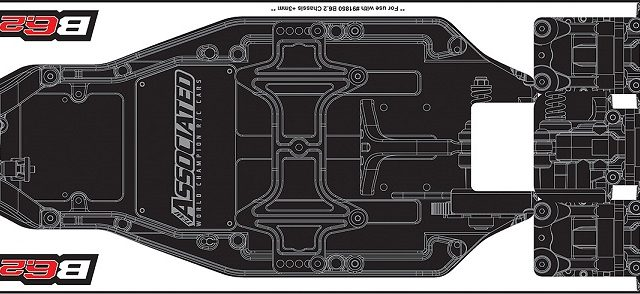 Team Associated Printed B6.2 FT Chassis Protective Sheet