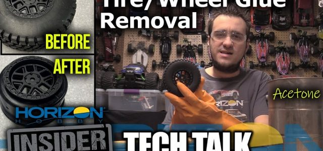 Tire/Wheel CA Glue Removal With Acetone – Horizon Insider Tech Talk [VIDEO]