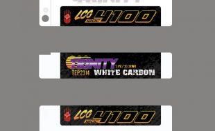 Trinity White Carbon 4100mah LCG 2S 7.4V LiPo