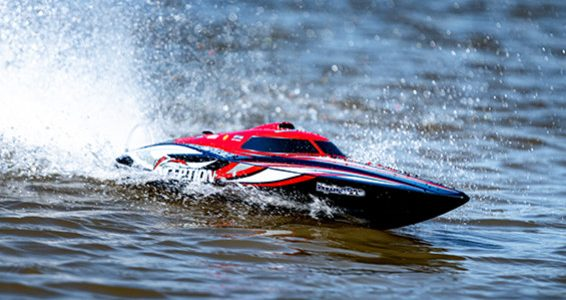 HobbyKing HydroPro Inception Brushless RTR Deep Vee Racing Boat 950mm [VIDEO]
