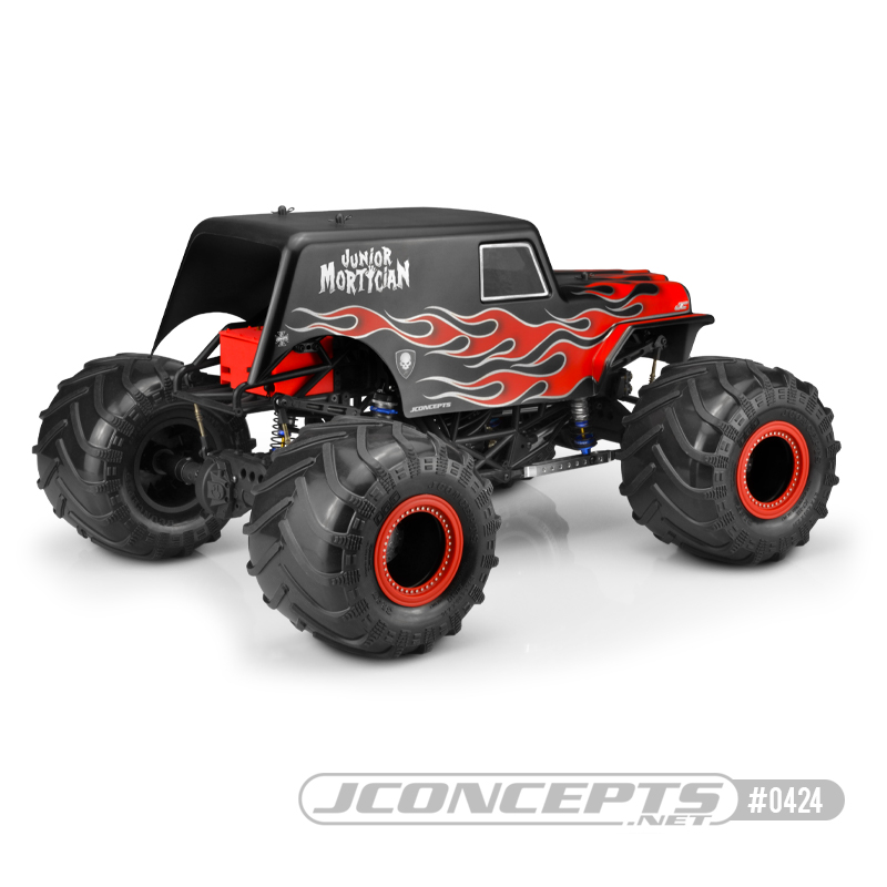 JConcepts Junior Mortician Clear Monster Truck Body