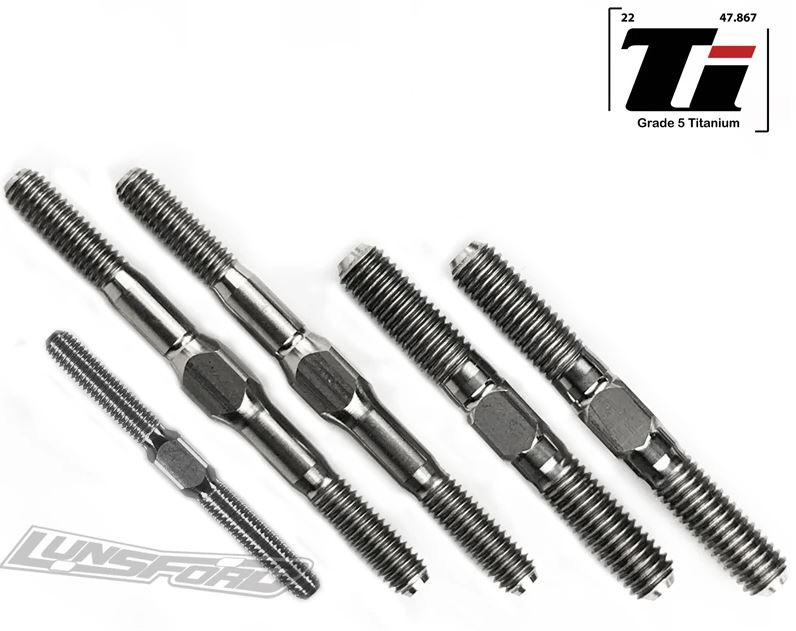 Lunsford Titanium Turnbuckle Kit For the Team Associated RCB3.2B3.2e