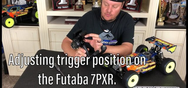Mugen's Adam Drake Shows You How To Adjust The Trigger On A Futaba 7PXR [VIDEO]