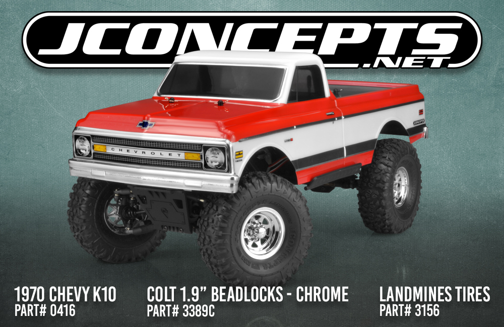 JConcepts Chrome Colt 1.9 Beadlock Wheels
